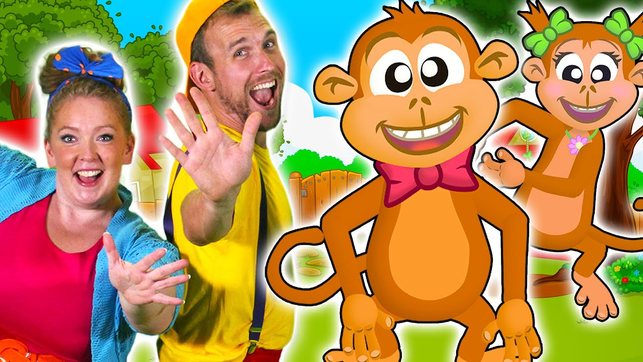 Five Little Monkeys Jumping On The Bed Children Nursery Rhymes