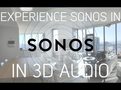 Sonos Whole Home Audio System in Binaural Audio: (watch with headphones)