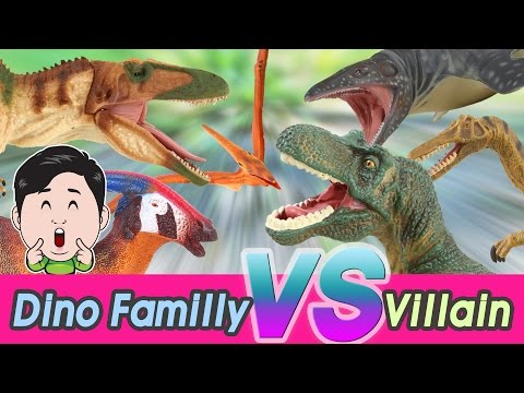Dino familly vs Villains Full version 1~5, Cocostoy with Collecta figures [cocostoy]