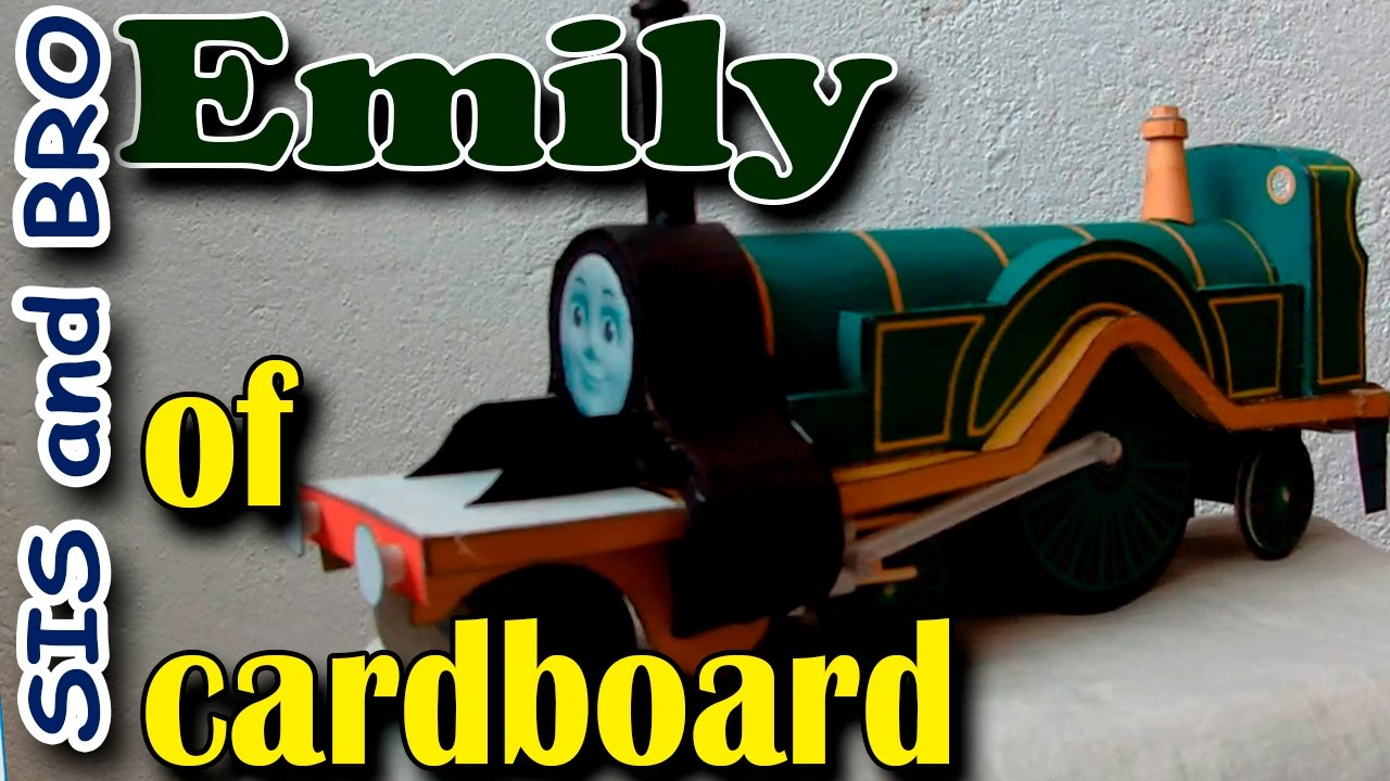 how to make thomas the train out of cardboard