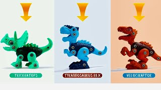 Dinosaur Toys for Kids   Take Apart Dinosaur Toys Unboxing   Dino Toy Set for Toddlers डायनॉसोर टोयस