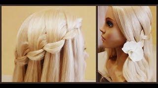 Прически за 5 минут.💥Коса Водопад-Красиво.быстро.просто.😇  Hairstyles for 5 minutes.Spit Waterfall