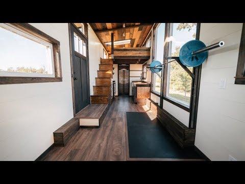 silhouette a tiny house with crossfit gym inside wind river tiny rh youtube com Ho Gym Shed Storage tiny house gym