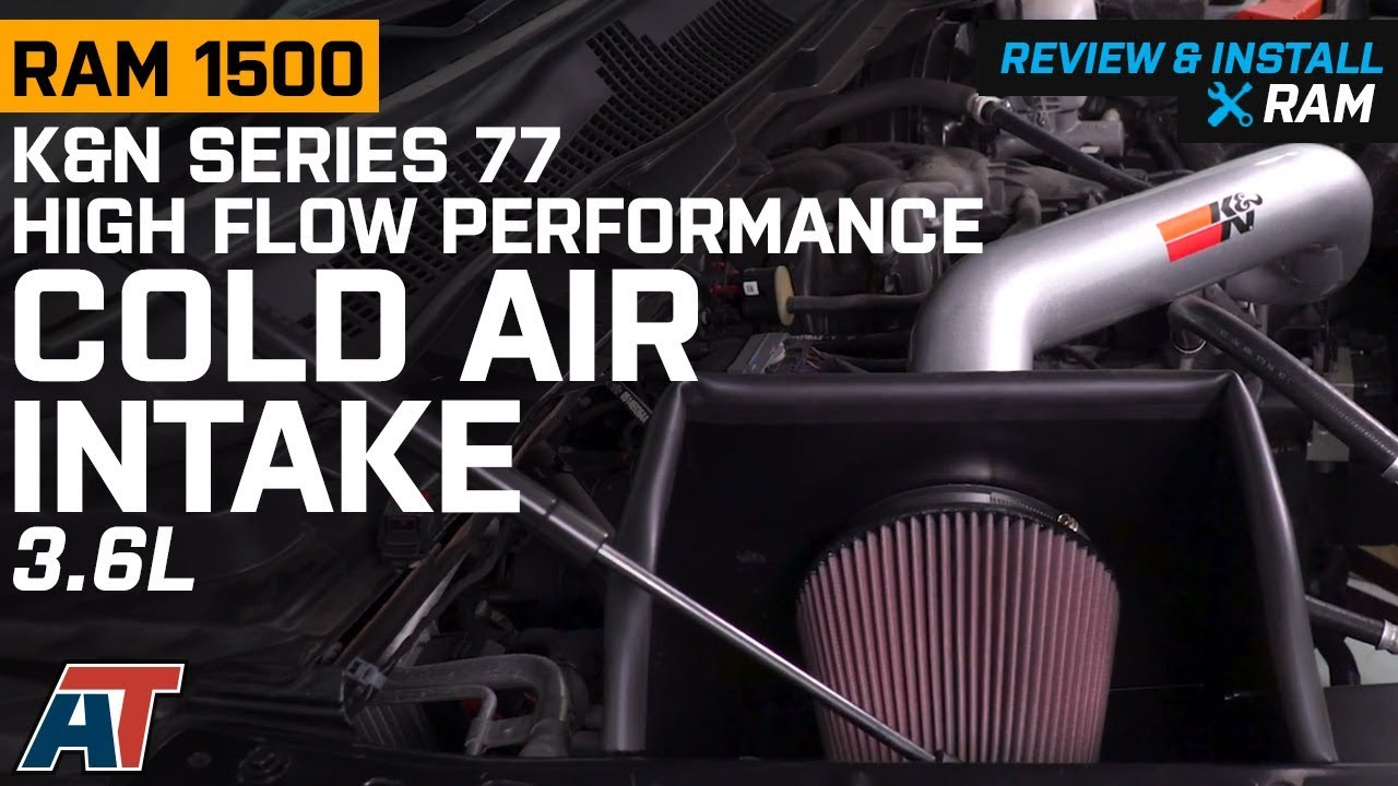 2013-2018 Ram K&N Series 77 High Flow Performance Cold Air Intake 3 6L  Review & Install