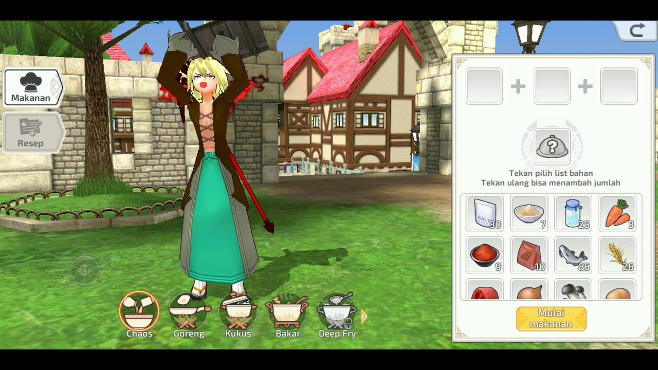 Resep Masak Makanan Mabinogi Fantasy Life Lv F Lv E Youtube