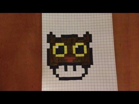 Mini Pixel Art 1 Champignon Chouette Youtube