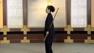 健身气功•太极养生杖功法教学07 第五式 神针定海
