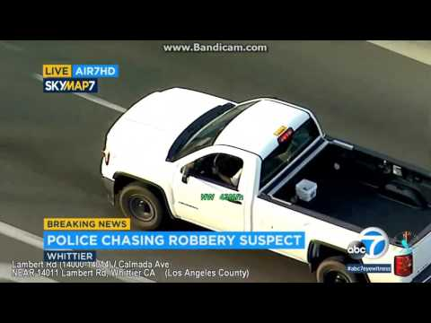 Los Angeles Area Police Chase 05/10/2017 - Armed Robbery Suspect