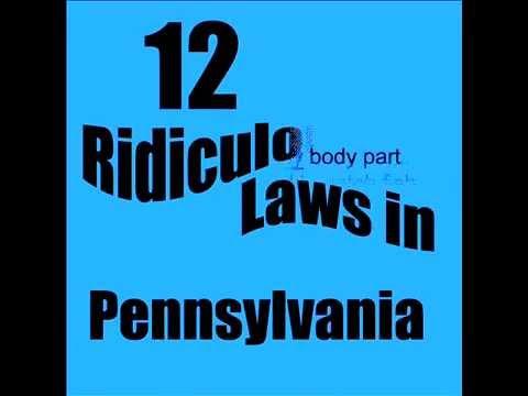 12 Ridiculous Laws in Pennsylvania
