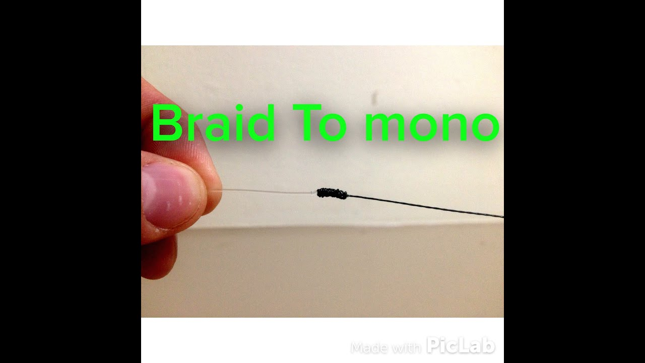 How to tie braided fishing line to fluorocarbon leader for Fishing knots for braided line