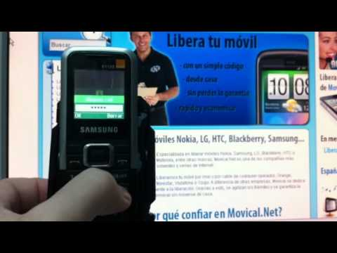 Liberar Samsung E1120 via imei de Orange, Vodafone o Movistar