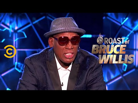 Dennis Rodman Burns the Whole Dais – Roast of Bruce Willis – Uncensored