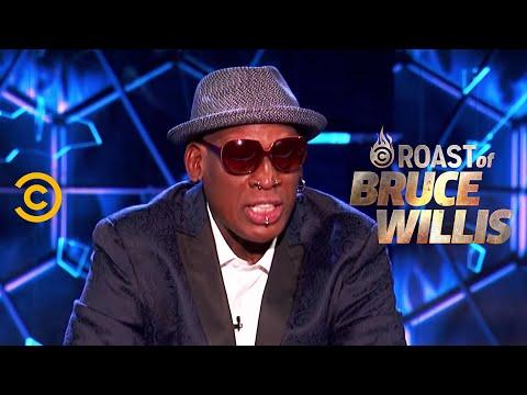 Dennis Rodman Burns the Whole Dais - Roast of Bruce Willis - Uncensored