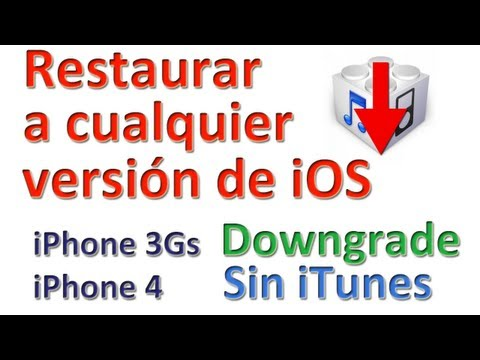 Restaurar/downgrade a cualquier versión sin iTunes, con shsh (iPhone 3Gs iPhone 4)