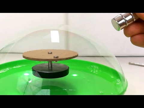 Floating Free Energy Motor in a Bubble