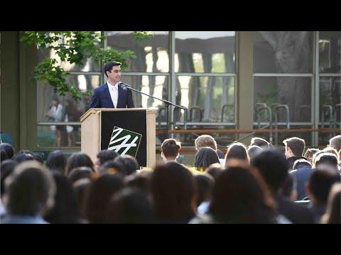 Haris Hosseini - The Harker School 2019 Baccalaureate Address