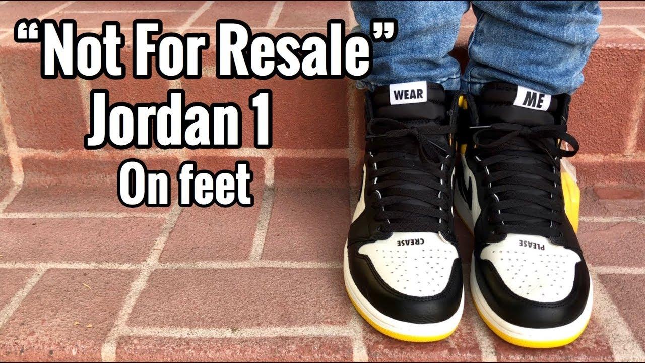 "bf279a64dae Air Jordan 1 ""Not For Resale"" On Feet - YouTube"