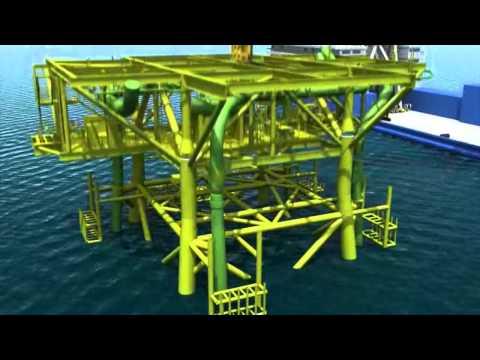 Oil Pipeline & Platform - Virtual Construction