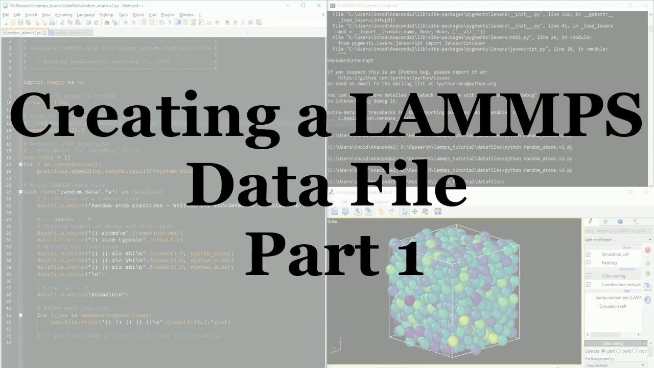 Using Python to Generate LAMMPS Data
