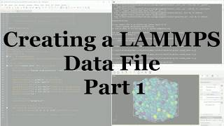 Using Python to Generate LAMMPS Data by EnCodeVentor
