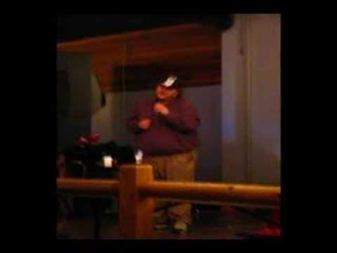 """New York State of Mind"" karaoke perfomance by James Gagne"