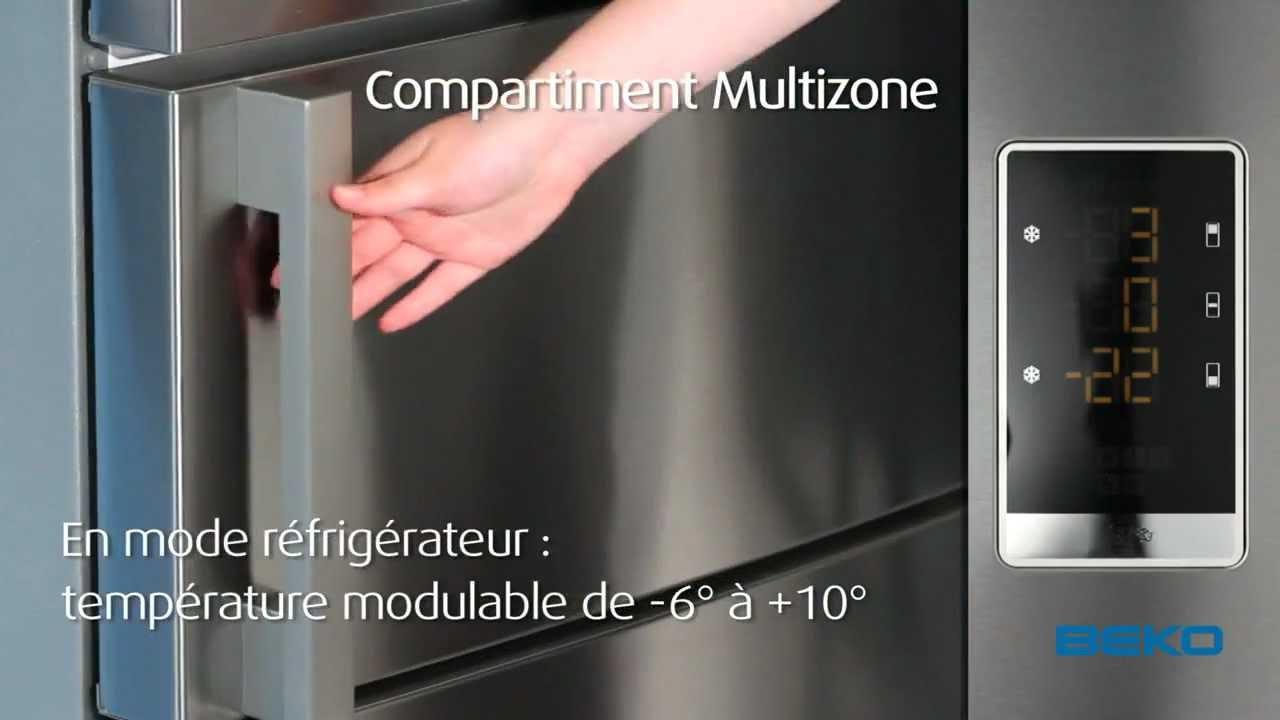 Réfrigérateur Portes Beko YouTube - Refrigerateur 3 portes