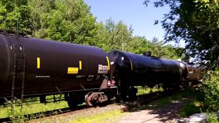 CN 704 W/ CN Engines 5609, 5535 & 2125 (ex UP 9090/CNW 8549) Lead This Long SB Loaded Crude Oil