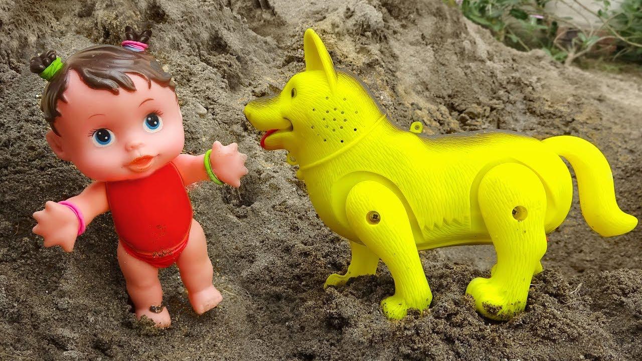 Em bé nô đùa cùng các bạn động vật đáng yêu - đồ chơi trẻ em FMC G394B