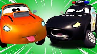 Kötü yarış arabası - Devriye Aracı araba şehrinde 🚓 🚒 Çocuklar için çizgi filmler