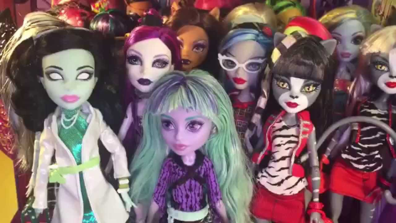 Coleção De Bonecas Monster High Seriado Novelinha Da Barbie Contra A Monster High Episódio1