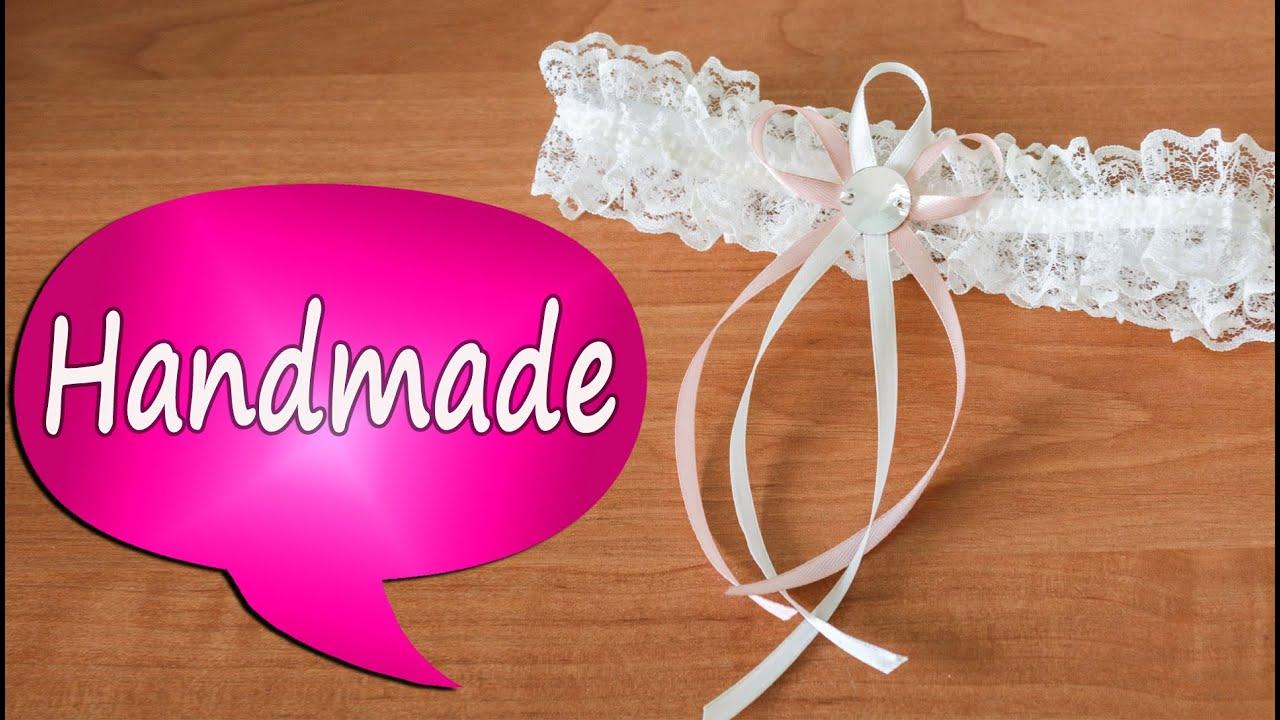 Делаем свадебную подвязку для невесты своими руками