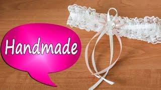 Делаем свадебную подвязку для невесты своими руками(В этом видео я покажу, как быстро и просто сделать изысканную подвязку для невесты своими руками. Интернет-..., 2016-05-24T14:23:15.000Z)