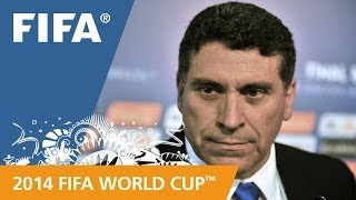 Honduras Luis Fernando SUAREZ Final Draw reaction (Spanish)