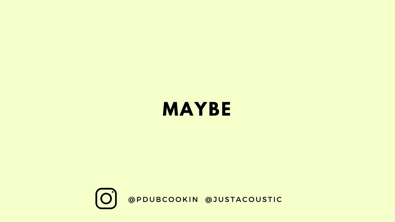 """R&B Guitar Instrumental - """"Maybe"""""""