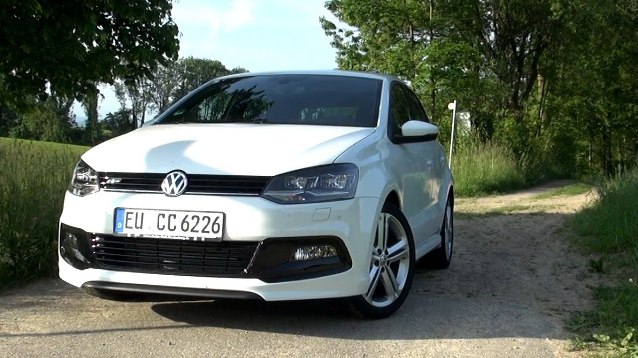 2015 vw polo 1 2 tsi r line 110 hp test drive youtube. Black Bedroom Furniture Sets. Home Design Ideas