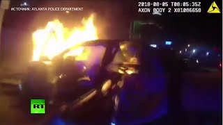 «Геройский хардкор»: спасение пассажира из горящей машины в США было записано на видео