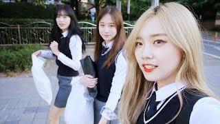 고등학생 체험기(?) ★교복★ 빌려입고 롯데월드 좀비이벤트 즐기기 !!! ♥혜서니♥