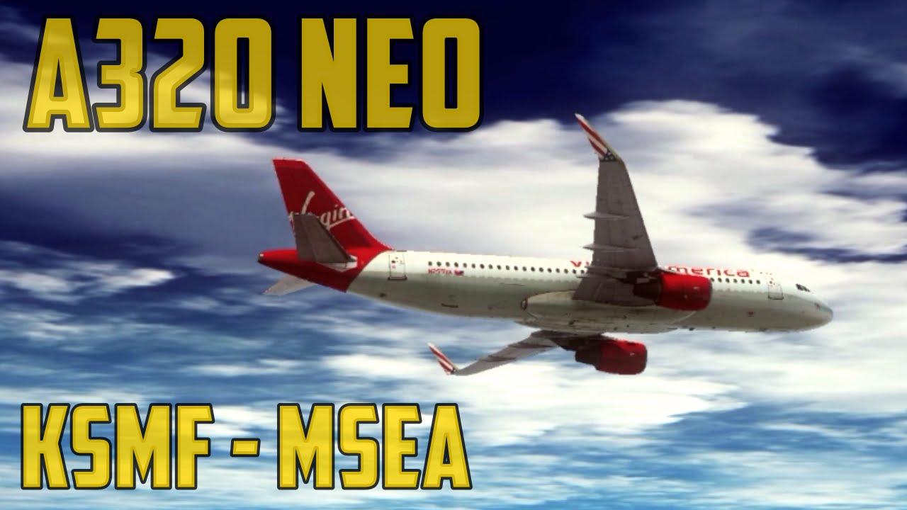 Sacramento - Seattle (A320 NEO) ║ FSX Flug