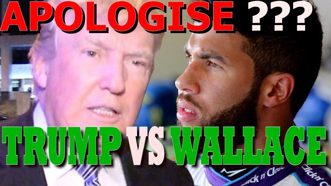 Trump demands Nascar driver Bubba Wallace apologize