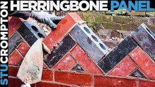 Bricklaying - Herringbone Brick Panel Freehand