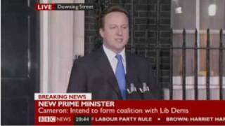 New UK Prime Minister 2010 - David Cameron Speech