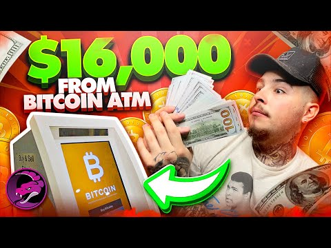 Withdrawing $16,000 CASH From A BITCOIN ATM | Turning Bitcoin Into Cash !!
