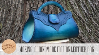 Making a handmade italian Leather Bag - Baueltto Cielo - CuoioVivo
