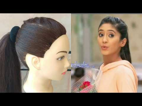 AWESOME HIGH PONYTAIL  WITH FRONT BRAID INSPIRED BY NAIRA \\ HAIRSTYLE FOR GIRLS FOR COLLEGE \OFFICE thumbnail