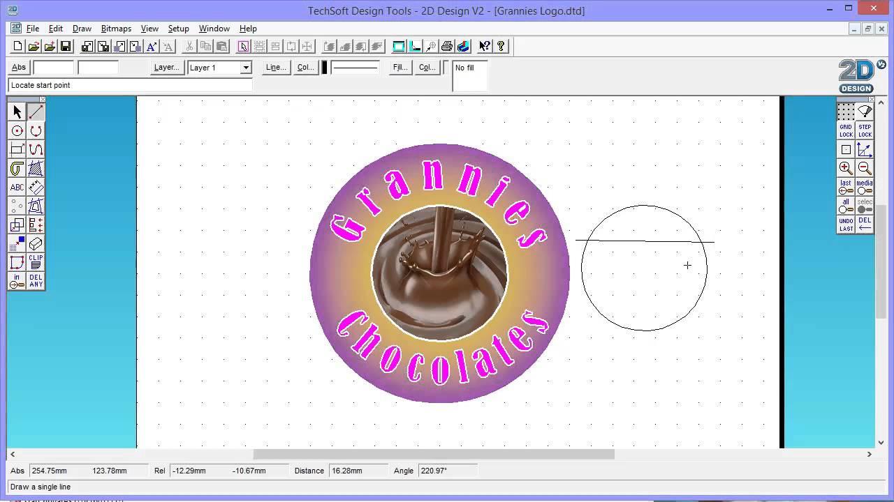 Creating a Logo Design using Techsoft 2D Design software - YouTube