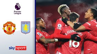 Man Utd wird Liverpool-Verfolger Nr. 1 | Man United - Aston Villa 2:1 | Highlights - Premier League