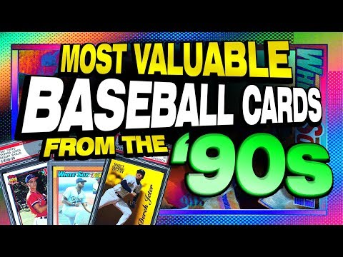 Top 25 Most Valuable Baseball Cards From The 1990's - Rookie Cards Only