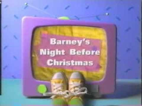 Opening to barney s night before christmas youtube
