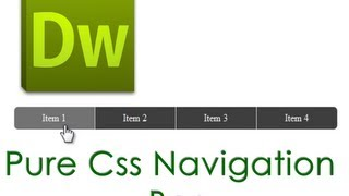 Dreamweaver Tutorial : Pure CSS Navigation  Bar with Rounded Corners