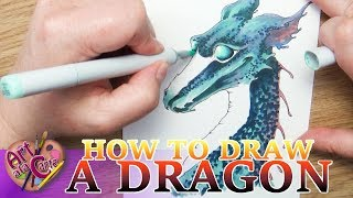 How to draw a Dragon: Cave Dragon Step by Step